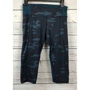 Lululemon Clip-in Crop- Blue Camo, 6